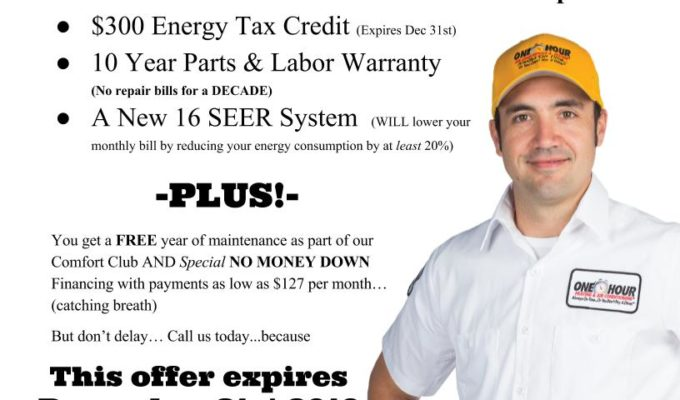Replacing old heat pump?  Energy Tax credit expires December 31st