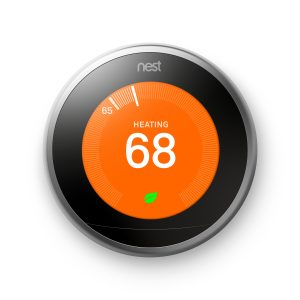 Nest Thermostat in heating mode included in New Heating & Air Conditioning System Offer