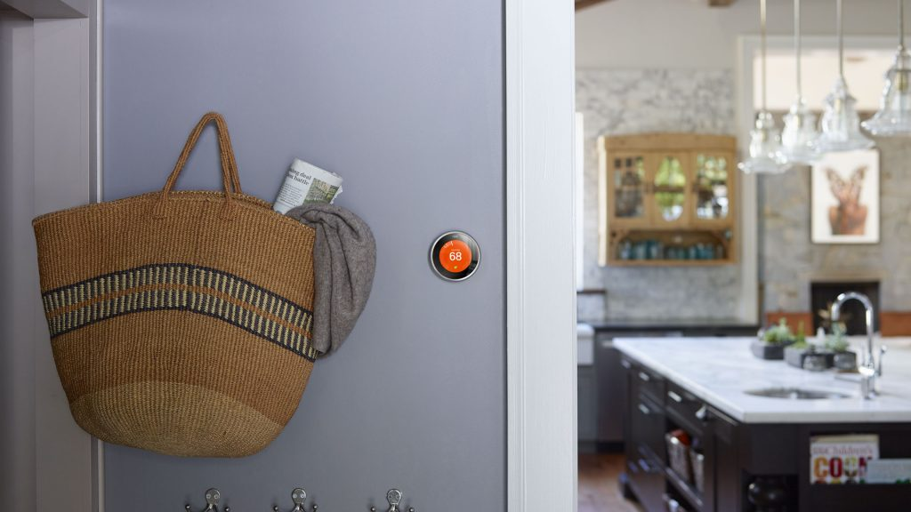 Nest Learning Thermostat near Kitchen for One Hour Heating & Air Conditioning